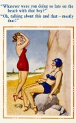 Saucy postcard with two female bathers