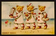 Pierrot Teddies' on the beach