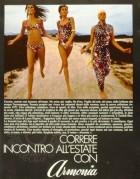 Advert for the Armonia swimwear collection