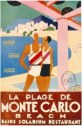 Poster for Monte Carlo beach