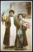 Two young flower sellers in London
