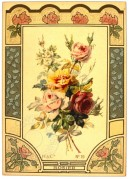 Roses within an Art Deco border