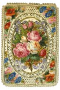 Roses and assorted flowers embroidery