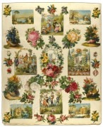 Wallpaper with Decorative Flower Scenes