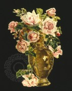 Roses in a Golden Vase