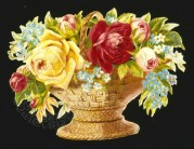 Wicker Basket of Roses