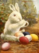 A Toy Rabbit with Eggs