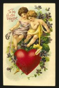 Cherubs on a Valentines card
