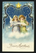 Angels on a Christmas card