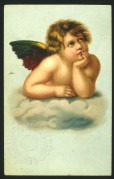 A cherub on a cloud