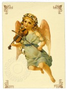 Angel playing a violin