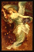 Angel with a basket of grapes