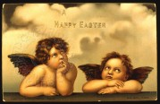 Angels on an Easter card