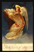 Angel at a lecturn