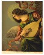 Angel playing a lute