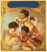 Three cherubs with doves
