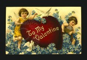 Children on a Valentines card