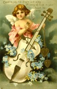 Cupid with a Love Verse