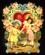 Valentines Card with Two Children