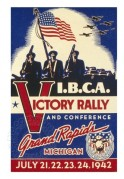 Poster for a 'Victory Rally' by I.B.C.A