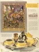 Nescafe Cofee Saturday Post advert 1946 with Turkish illustration c1554