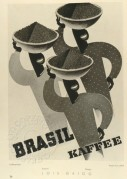 Brasil Kaffee (Coffee) poster by Lois Gaigg in mono