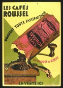 Poster Advert Colour French – Les Caffe Roussell