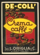 De-Coll label for Creme Caffe – Torinio Italian