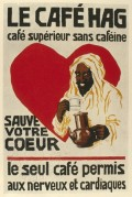 La Cafe Hag poster advert with Arab and heart illustration