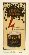 Advert for Nescafe 100% cafe text