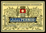 Absinthe by Jules Pernod bottle label