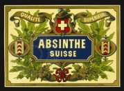 Label for Absinthe Suisse