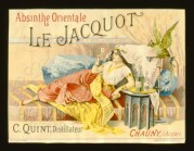 Label for Absinthe Orientale Le Jacquot