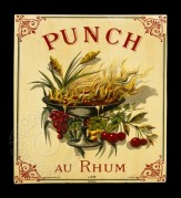 French label for Rhum Punch