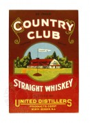 USA label for Country Club Straight Whiskey