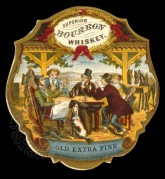 Decorative label for Superior Bourbon Whiskey