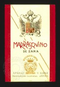 Label for Marrasqvino de Zara licqueur