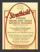Label for Strathisla Malt Scotch Whiskey