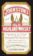 Label for Johnston's Old Highland Whiskey