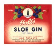 Label for Holt's Sloe Gin