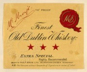 Label for McIlroy's Finest Old Dublin Whiskey