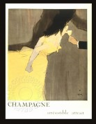 French advert for Champagne, the ' irrestible lure'