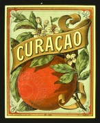 Label for Curacao Licqueur