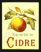 French label for Brandy Cider