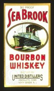 Label for Sea Brook Bourbon Whiskey