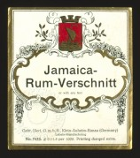 German label for Jamica Rum