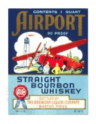 Label for Airport Straight Bourbon Whiskey