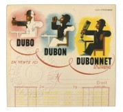 Branded notepad for Dubonnet Tonic Wine