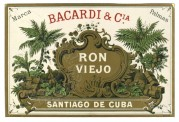 Label for Bacardi Rum from Cuba