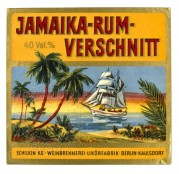 Label for Jamaica Rum Verschnitt